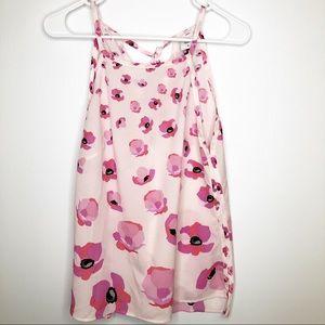 CABI pink floral blouse